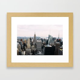 New York skyline from Top of the Rock Framed Art Print
