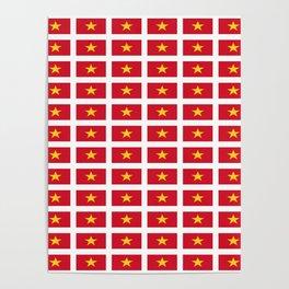Flag of vietnam -Vietnamese,Việt Nam,hanoi,vietnamien,hanoi,tiếng Việt Poster