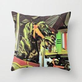 Carousal horses Throw Pillow
