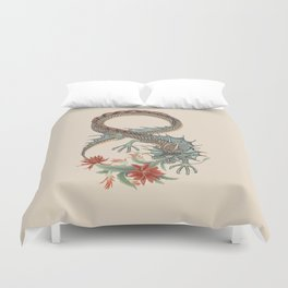 Botanical Flower Dragon 8 Duvet Cover
