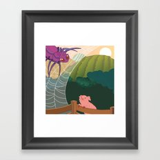The spider and the pig Framed Art Print