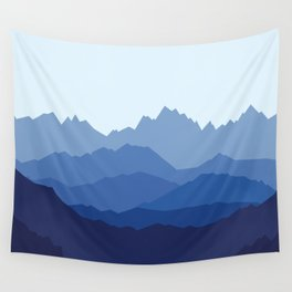 Blue Mountain range Wall Tapestry