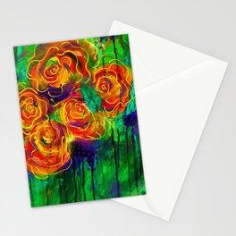 Vibrant Orange Flowers Stationery Cards