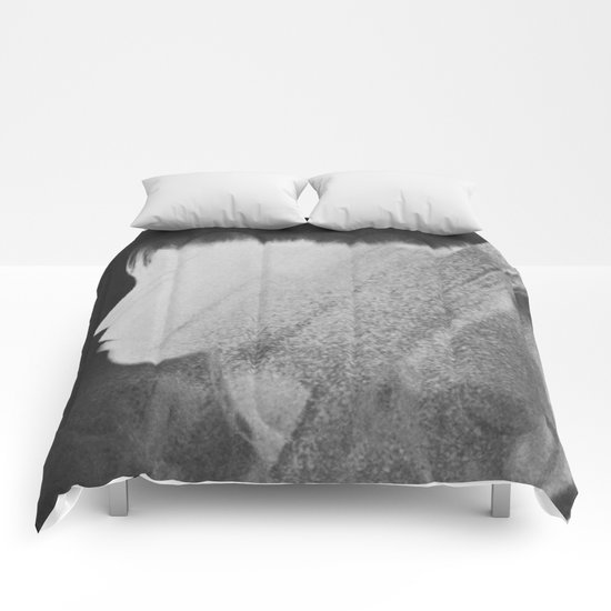 Faceless Charcoal Comforters