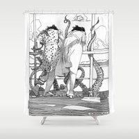 apollonia Shower Curtains featuring asc 515 - Sketchwork by From Apollonia with Love