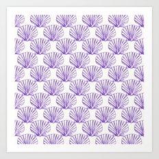 Sea Shells: Purple Art Print