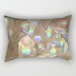 Unicorn Horn Aura Crystals Rectangular Pillow