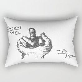 From Me To You Rectangular Pillow