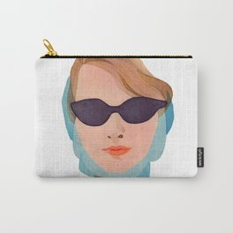 Vintage Glamorous Lady In Sunglasses   Carry-All Pouch
