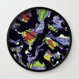 Little dark horses Wall Clock