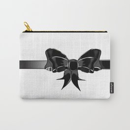 Black Silk Bow Carry-All Pouch
