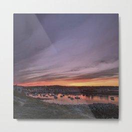 Last Rockport Sunset of Summer Metal Print