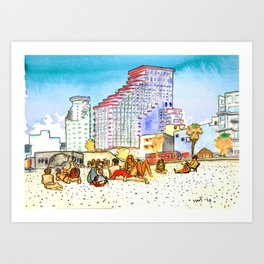 geula beach, tel aviv Art Print