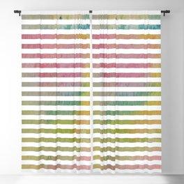 Watercolor Stripes Blackout Curtain