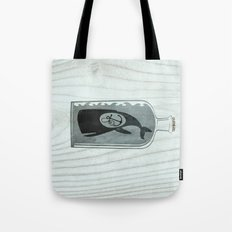 Whale in a Bottle | Anchor Tote Bag