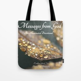 """Book Cover for """"Messages from God: An Illuminated Devotional"""" Tote Bag"""