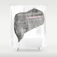 knit Shower Curtains featuring Knit Heart by Acorner