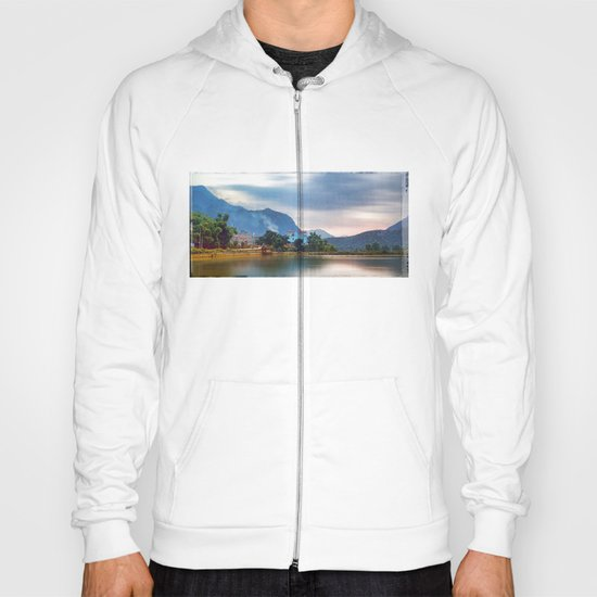 Painted Blue House Landscape Hoody