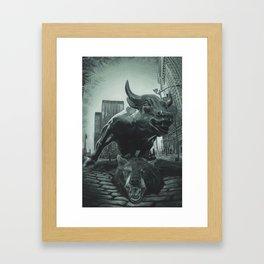 Triumph of the Bull Framed Art Print