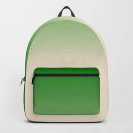 Antique White and Christmas Green Gradient Colors Backpack