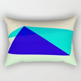 Ours Is A Blue House Rectangular Pillow