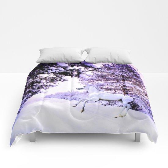 snow beauty Comforters