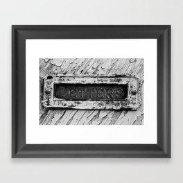 Letters Framed Art Print