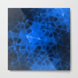 Digital Blue Metal Print