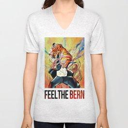 Feel the Bern!  Unisex V-Neck