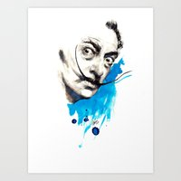 dali Art Prints featuring Dali by Mitja Bokun