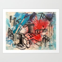 News abstract Art Print