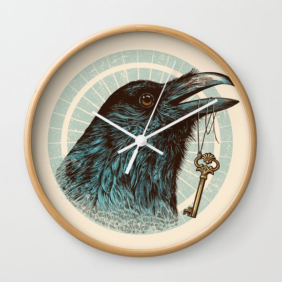 Raven's Head Wall Clock
