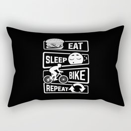 Eat Sleep Bike Repeat - Bicycle Racing Cycling Rectangular Pillow
