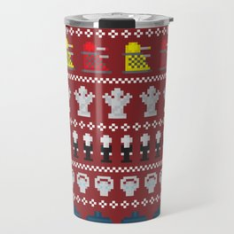 Doctor Who - Time of The Doctor - 8 bit Christmas Special Travel Mug