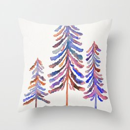 Pine Trees – 90s Color Palette Throw Pillow