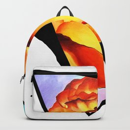 Fire Rose Triangle Backpack