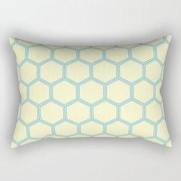 Bright Yellow Blue  Geometrical Pattern Design Rectangular Pillow