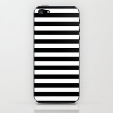 Modern Black White Stripes Monochrome Pattern iPhone & iPod Skin