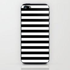 Modern Black White Stripes Monochrome Pattern iPhone & iPod Skin