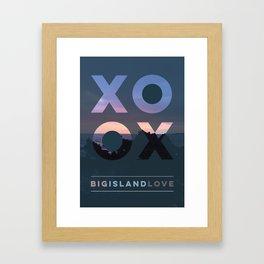 Big Island Love Framed Art Print