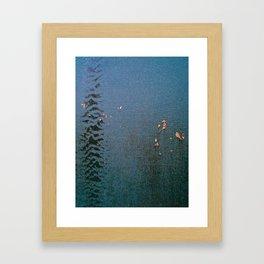 Sticky Leaves Framed Art Print