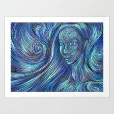 frozen fire Art Print