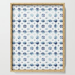 Azulejo I - Portuguese hand painted tiles Serving Tray