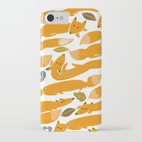 kitsune iPhone & iPod Cases featuring Kitsune by Mamoizelle