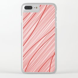 Peppermint Stripes Red and White - Digital Painting Clear iPhone Case