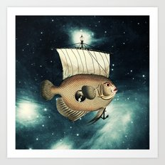 5 Weeks in A Yellow Fish Art Print