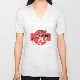 Warbird Girls Logo  Unisex V-Neck