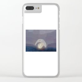 Visible By The Wheel Of Light Clear iPhone Case