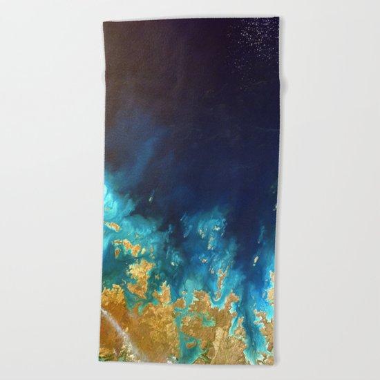Ocean from above Beach Towel