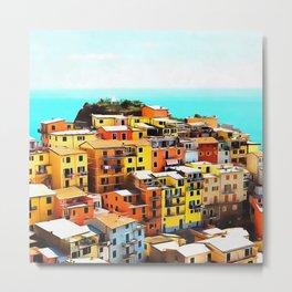 Manarola Liguria Metal Print